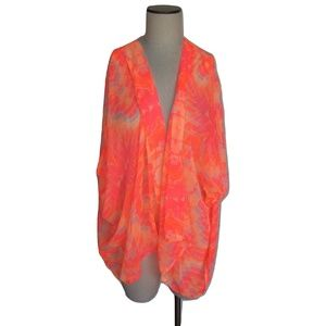 NWT Cejon Abstract Print Sleeveless Sheer Cover Up
